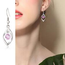 Fashion Women Curve Round Drop Earrings Jewelry Party Diamond Earrings Eardrop