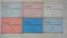INONDATIONS JANVIER 1910 PARIS ET SES ENVIRONS TARIDE EDITEUR N°1 2 3 4 5 6