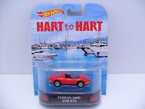 2013 Hot Wheels Retro Entertainment Hart Ferrari Dino 246 GTS w/ Real Riders