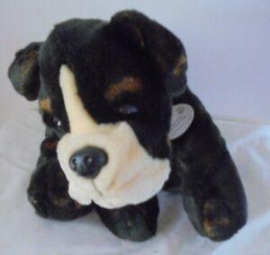 "Keel Large Biffa Dog Puppy Soft Toy Plush Boxer Bulldog Brown With Collar 13.5"""