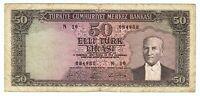 1930 11 Haziran Turkey 50 Lirasi 084988  Vintage Paper Money Banknotes Currency