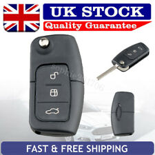 Flip Key Fob Case Flat Blade Replacement 3 Button For Ford Focus Fiesta Mondeo