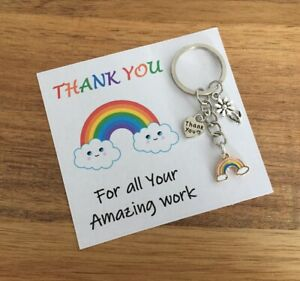Thank you Keyworker Rainbow Gift Teacher NHS staff  Transport Postal Police  🌈
