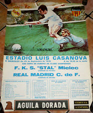 AFFICHE POSTER CARTEL REAL MADRID STAL MIELEC EUROPEAN CHAMPIONS CUP 1976