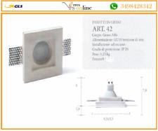 Porta Faretto in Gesso Ceramico da incasso Lampade led+Portalampada GU10 ART.42