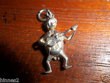 THE BEATLES GUITAR HOLDING BEETLE SILVER CHARM 3gr GENUINE 1964 ORIGINAL