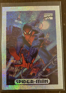 1994 Marvel Masterpieces 8 of 10 Silver Holofoil Card - Spider-Man
