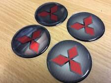 Mitsubishi EMBLEM Wheels Logo Classic Japan Circle Round 48mm 4pcs 1.9in Red