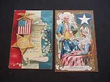WASHINGTON ADOPTING 5 POINT STAR & CLAPSADDLE GRAND ARMY OF REPUBLIC POSTCARDS