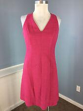 Ann Taylor Loft S 4 P Pink A Line Flare Dress Career Cocktail Excellent Cotton