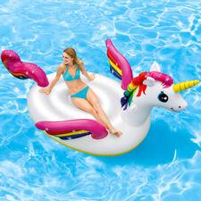 INTEX Schwimmtier Unicorn Einhorn XXL Schwimmliege Badeinsel Pool Wasserliege