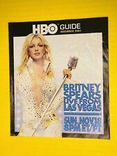 RARE - Britney Spears - HBO Guide NOV 2001 Las Vegas Elvis Booklet Memorabilia