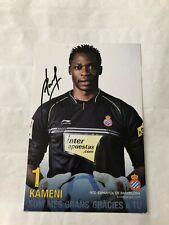 Spelerskaart Topspieler Espanyol Handsigniert Kameni