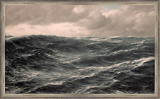 Sturm auf hoher See Wellengang Marine Malerei Schnars Alquist Maritim A1 004
