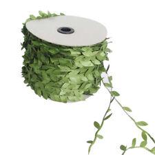 Artificial Vine Leaves Garland Ribbon Flower Headband Craft Wedding 20Meter #HN