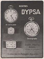 Publicité Montres DYPSA Watch photo vintage print ad  1924 -2j
