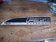 2011-15 FORD F-350 XLT SUPER DUTY LH FENDER EMBLEM OEM F350 Driver Side