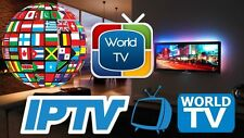 IPTV SUBSCRIPTION 12MONTHS GIFT WORLDWIDE 6000+CHANNELS+VOD+ADULT+BOX OFFICE