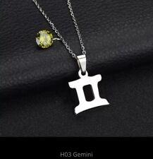 Bridesmaid Gemini Star Sign Necklace Zodiac Constellation Citrine Birthstone BOX