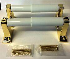 Taymor 05-PB201 Sunlight Series Polished Brass Toilet Paper Holder 2PCS