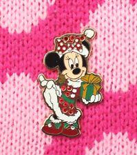 Disney Pin MINNIE Santa Hat and Present Jewel Christmas Holiday