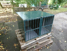 XXL Alu Doppel Hundebox mit Trennwand Transportbox Hundetransportbox
