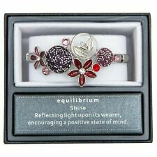 Stretch Band Bracelet - Gift Box New Equilibrium Moody Tones Red/Purple Flower