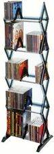 Atlantic Mitsu 5-Tier Media Rack 130 CD/90 DVD/BluRay/Games, Clear Smoke finish