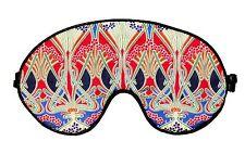 Eye Sleep/Sleeping mask Made From luxurious LIBERTY OF LONDON Fabric IANTHE RED