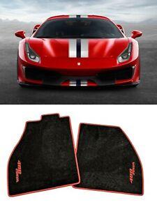 Ferrari 488 Pista Carpet Floor Mats Black/Red