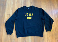 Iowa Hawkeyes Vintage 90's Nike Center Swoosh Embroidered Crew Mens L Rare