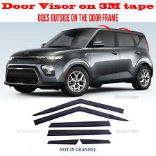 2S Tape Smoke Door Window Vent Visor Deflector â�6pcsâ� Kia Soul Booster 2020-2021 (Fits: Kia)