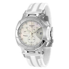 Tissot T-Race White Mother of Pearl Dial White Silicone Mens Sports Watch