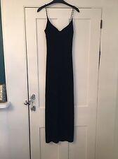 Black Beaded Strap Dress From Kookai, Size 1