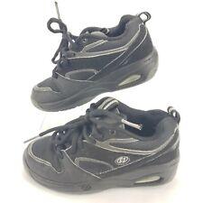 Heelys Streak Skate Shoe Boy'sYouth Size 4 Black/Gray w/ Wheels Great Condition!