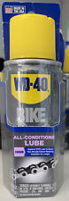 WD-40 BIKE All Conditions LUBE Chain Cleaner Degreaser -Stop Squeaks 2.5oz Spray