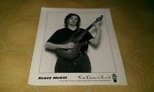 SCOTT MCGILL Free Electric Sound Press Promo Photo Promotional B&W Guitar God