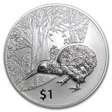 2013 1 oz Silver Kiwi Treasures Tane Mahuta Coin - Display Card - SKU #72184