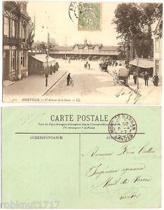CPA LL. old 1907 postcard railway station Avenue de la Gare ABBEVILLE Somme R