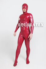 Cosplay Daredevil Costume Rubber Latex Catsuit Rubber Bodysuit Zentai