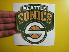 "BEST PRICE!! LOT OF 10 NBA DECAL / STICKER SEATTLE SONICS 5"" X 5"""