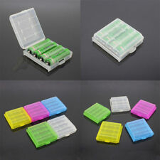 2x Portable Hard Plastic Battery Case Holder Storage Box For 4X AA AAA Batteries