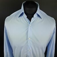 Tommy Hilfiger Mens Shirt 39 15.5 (MEDIUM) Long Sleeve Blue Fitted Cotton