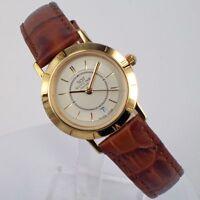 Glycine Damenuhr Quartz Uhr mit Datum 3453.21C 10 Micron Vergoldet