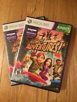 KINECT ADVENTURES - XBOX 360 KINECT - COMPLETE W/MANUAL - FREE S/H (L)