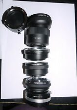 7 E mount SONY CAMERA LENS ADAPTERS for Pentax, Minolta, M42, Canon FD, T2 mount