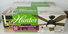 NIP Hunter Designer Series Channelside bronze ceiling fan w/ remote control
