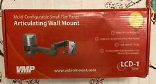 VMP LCD-1 Multi Configurable Small Flat Panel Articulating Wall Mount-Silver