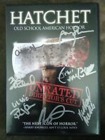 Autograph signed Hatchet DVD signed 7x