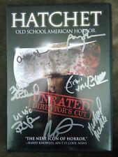 Autograph signed Hatchet DVD signed 7x
